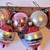 Vintage mercury glass Christmas ornaments set 6