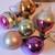 Vintage mercury glass Christmas ornaments set 5