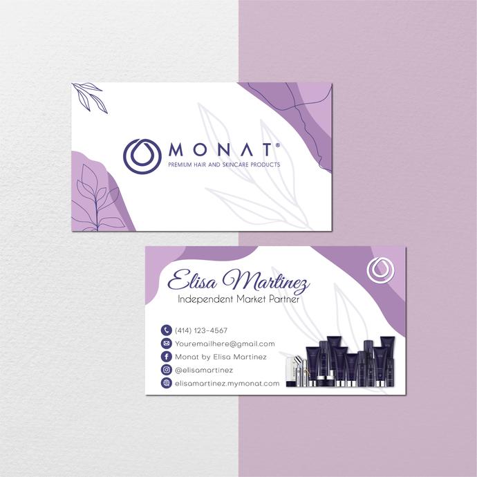 Watercolor Monat Business Cards, Watercolor Custom Monat Business Cards, Monat