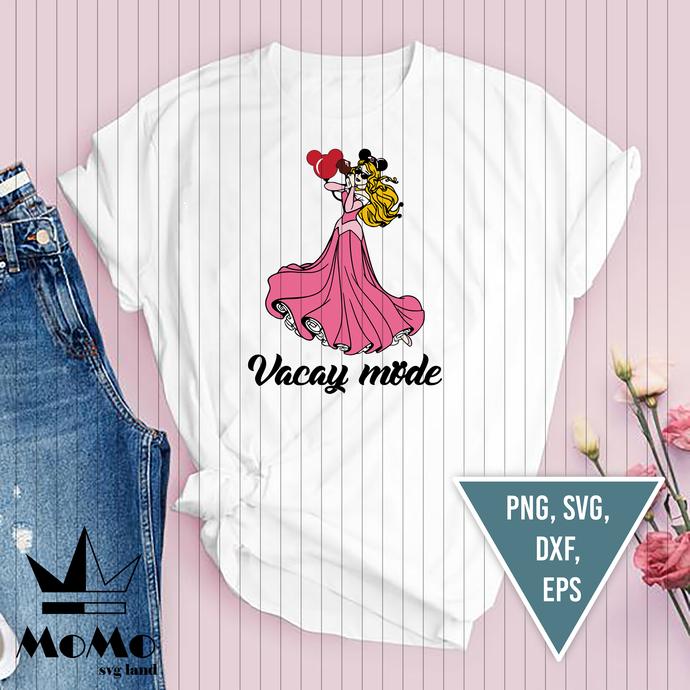 Aurora Vacay Mode svg, Sleeping beauty svg, Princess svg, disney, disney svg,