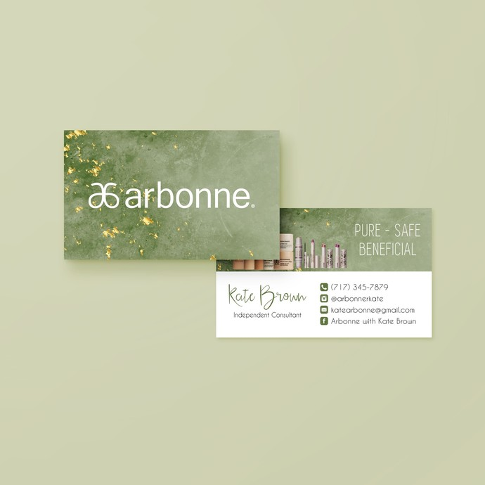 Watercolor Arbonne Business Card, Personalized Arbonne Business Card, Arbonne