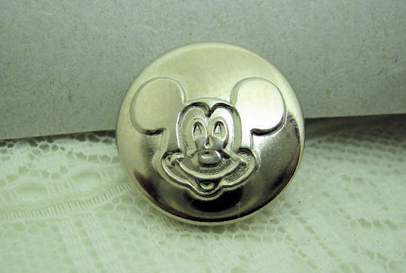 Vintage Metal Mickey Mouse Button