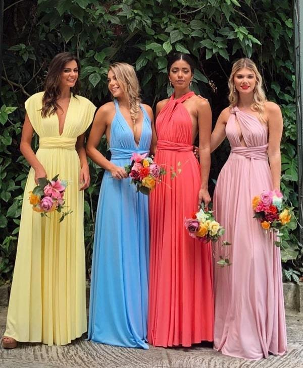 infinite bridesmaid dresses long chiffon convertible elegant cheap custom