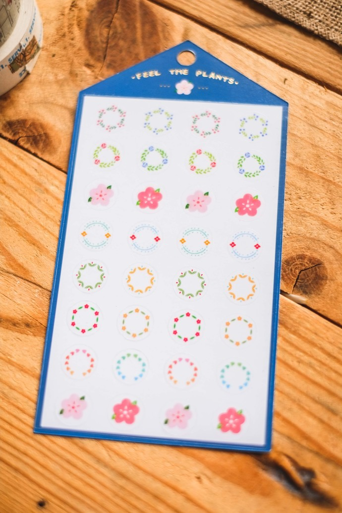 Ownday translucent sticker sheet - Feel The Plants - dark blue, see-through