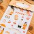 Ownday crystal/epoxy sticker sheet - Love Story - yellow, see-through backing