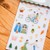 Ownday crystal/epoxy sticker sheet - Love Story -green, see-through backing