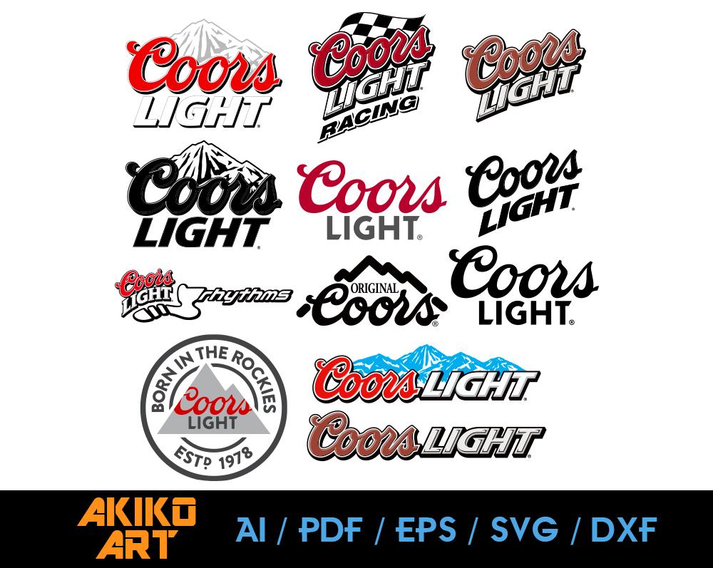 Coors Light Beer Vector Beer Dxf Eps Png By Akiko Art On
