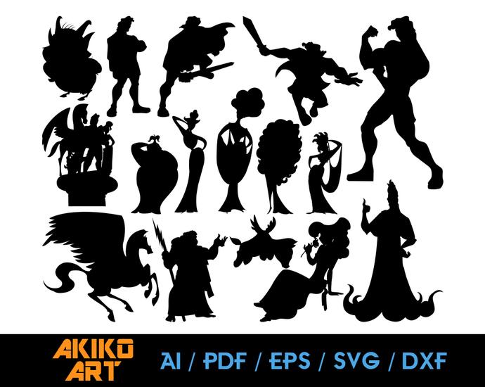 Hercules vector | Disney dxf | eps | png | cricut cut file | separated svg