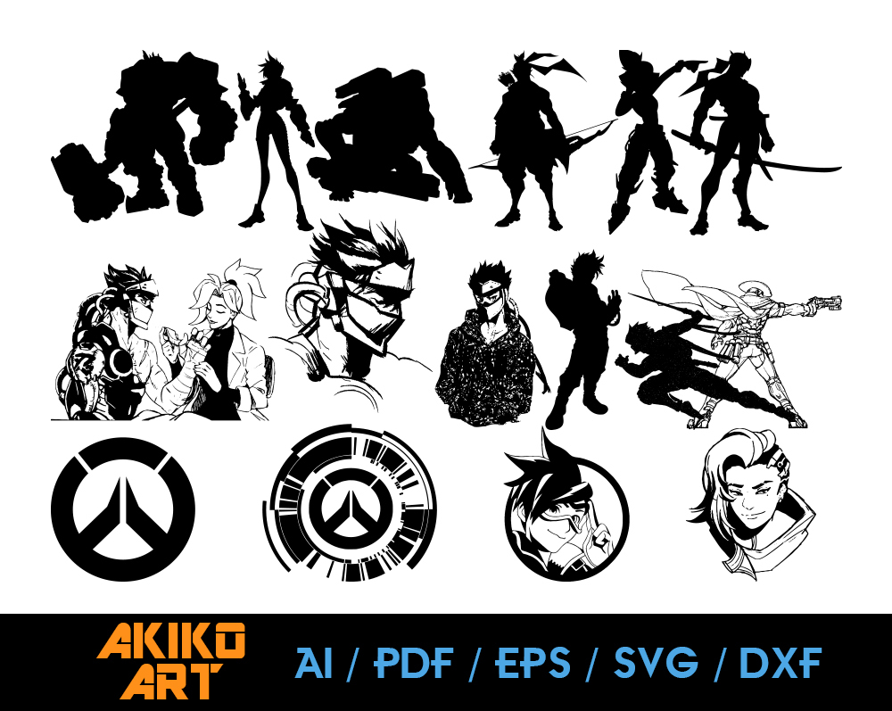 Over Watch Vector Game Dxf Eps Png By Akiko Art On Zibbet