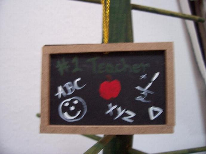 Teacher Chalkboard Ornament