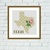 Texas state map flower ornament silhouette cross stitch pattern