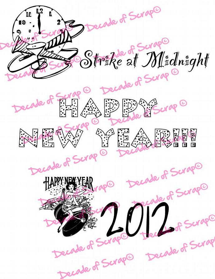 New Years 2 Sentiments Digi Image