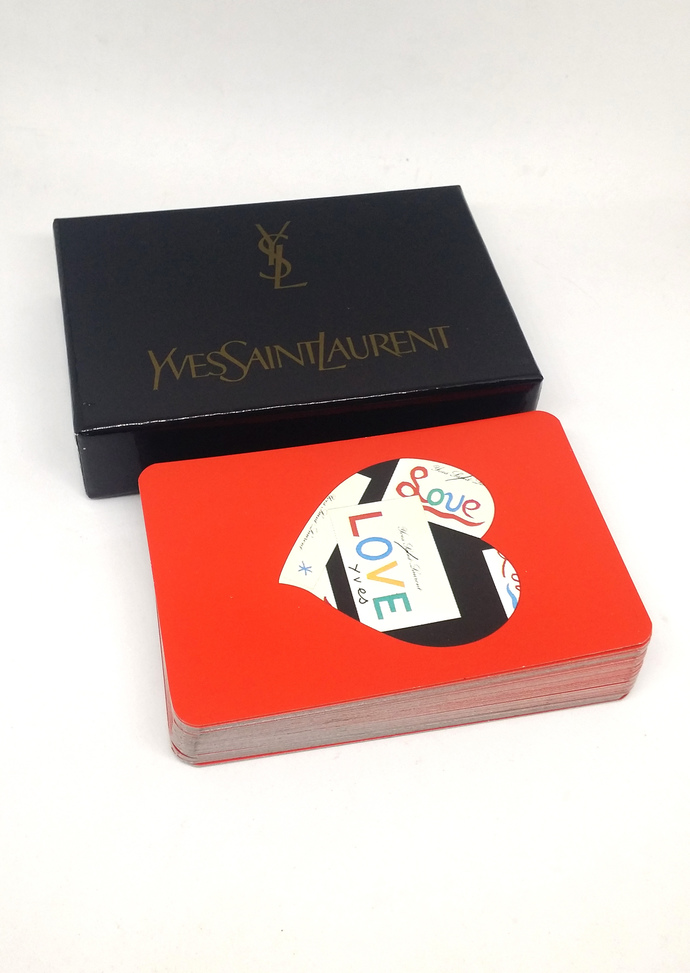 Yves Saint Laurent YSL Playing Cards With Box - Rare Vintage