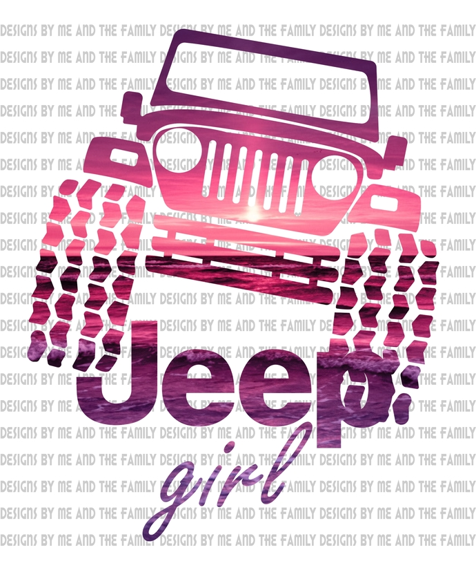 Flip flops and Jeep kinda girl, front pocket and back art included, off road is