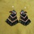 Native American Style Brick Stitched North Coastal Style Eagle Earrings in