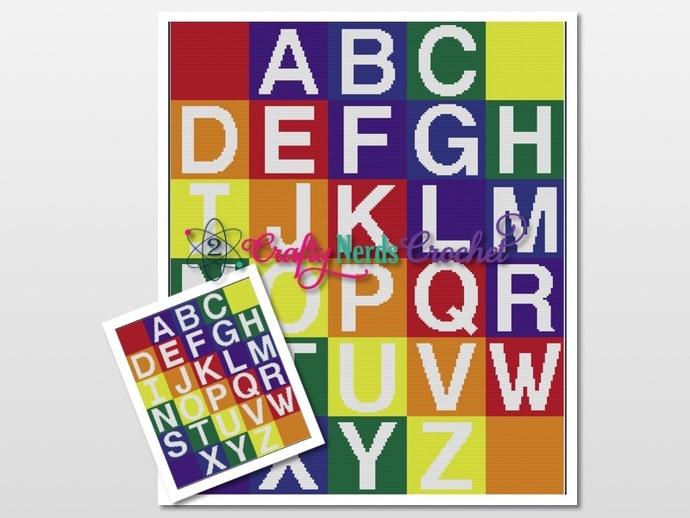 Alphabet CAL AIO With Single Crochet Written