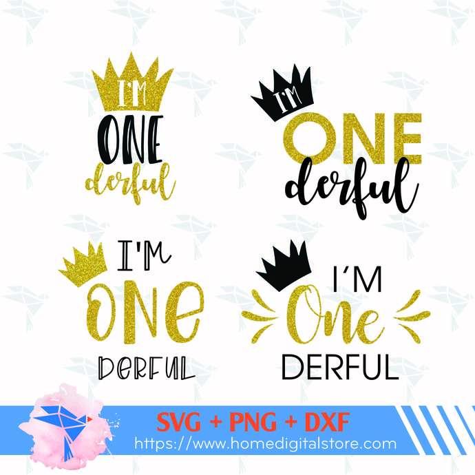 I'm Onedeful SVG, PNG, DXF. Instant download files for Cricut Design Space,