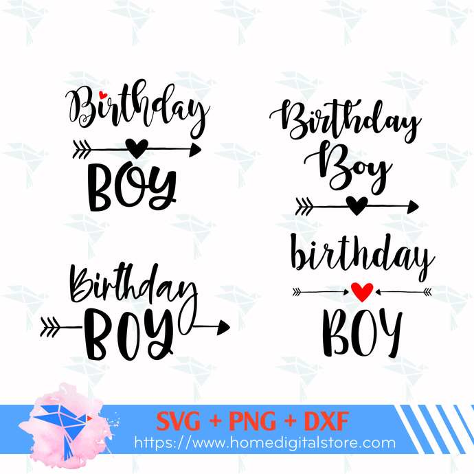 Birthday Boy SVG, PNG, DXF. Instant download files for Cricut Design Space,