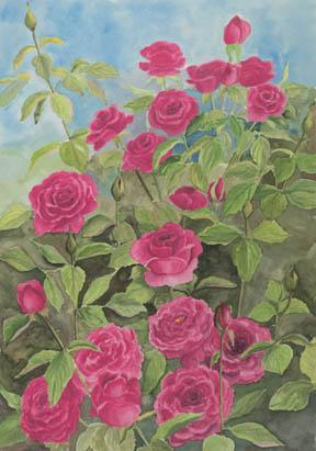 """A Joy Forever"" Canvas Giclee Print Roses by Carol Thompson"