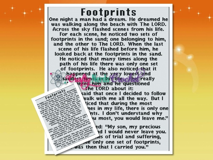 Foot Prints In The Sand Pattern Graph With Single Crochet Written