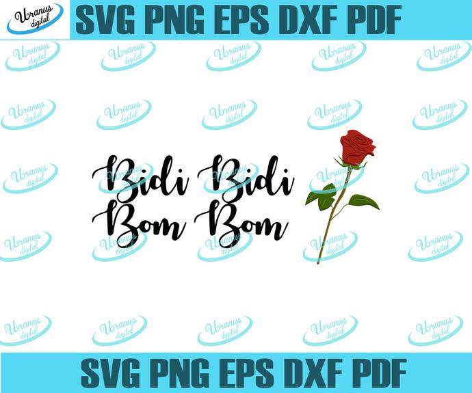 Bidi Bidi Bom Bom Svg Como La Flor Rose By Venusdigital On Zibbet