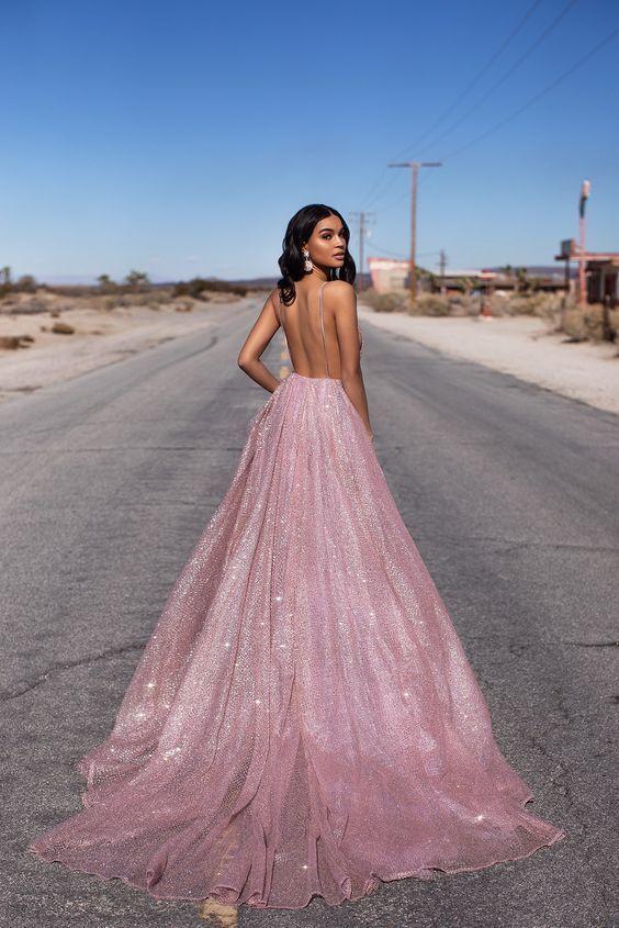 tulle sequin long prom dress formal dress
