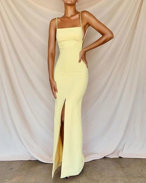 Sexy Prom Dresses Side Slit Prom Dress