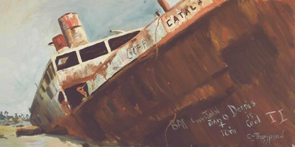 """Catala"" Paper Giclee Print Boatel Ship by Carol Thompson"
