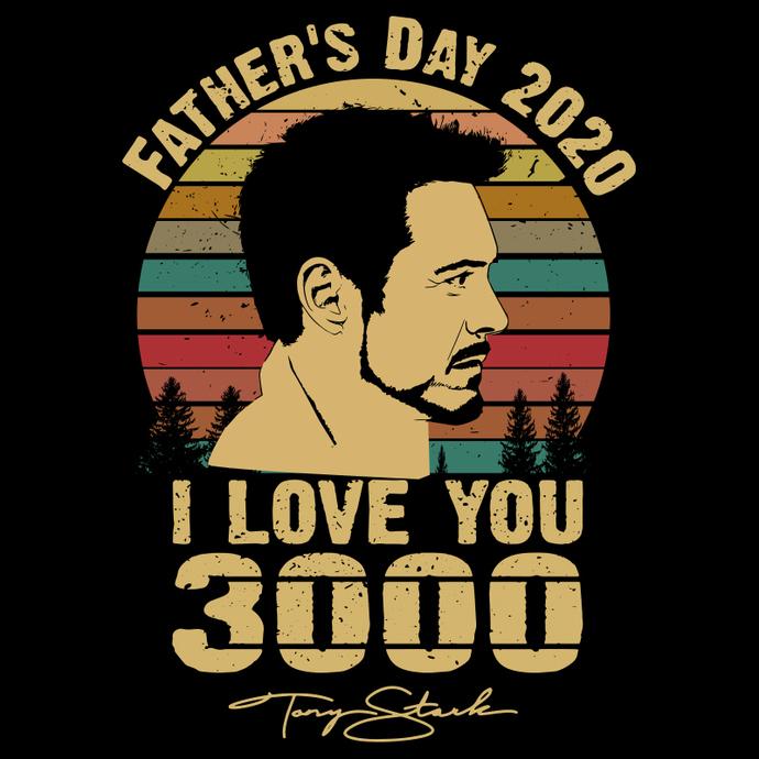 Father S Day Svg I Love You 3000 Svg Marvel By Seniorsvg On Zibbet