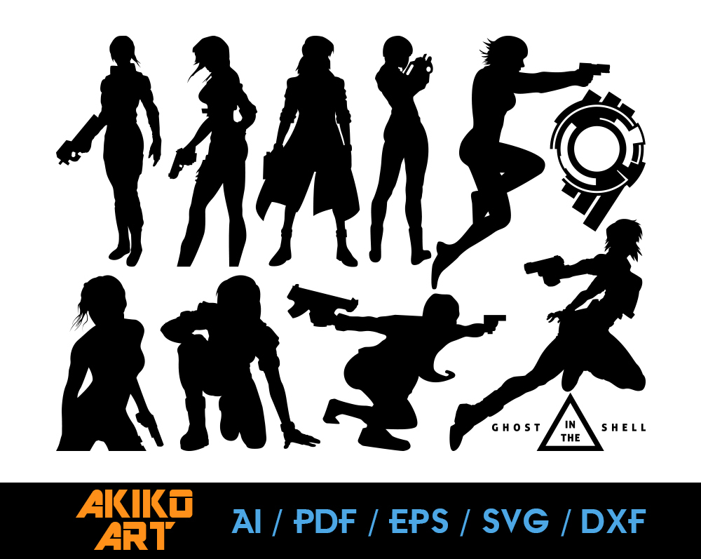 Ghost In The Shell Vector Dxf Eps Png By Akiko Art On Zibbet