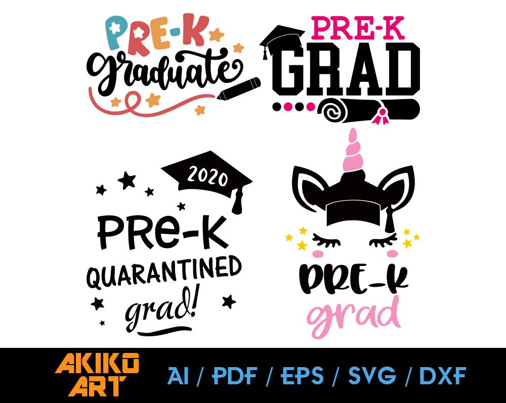 Pre K Grad Vector Dxf Eps Png Cricut Cut By Akiko Art On