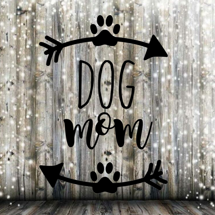 Dog Mom Decal SVG and PNG Instant Download
