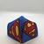 FACE MASK, Superman, 100% Cotton, 3-Layers, Handmade, Machine Washable/Dryable,