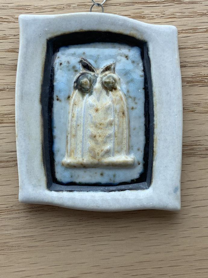 "Mini Wall Owl wall plaque - 2 7/8"" X 2 3/4"""