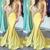 mermaid evening dresses beaded lace applique modest satin elegant cheap evening