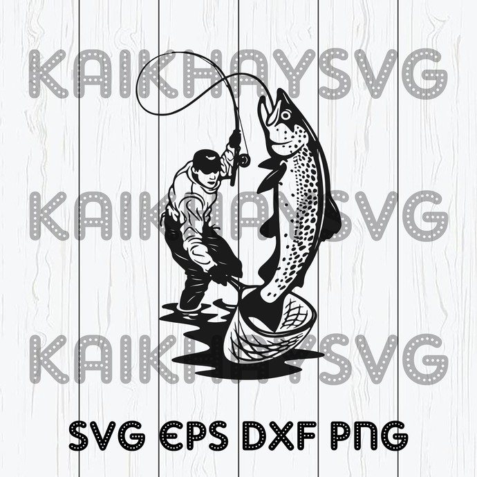 Download Salmon Fishing Svg Fish T Shirt Striped By Kaikhaystore On Zibbet