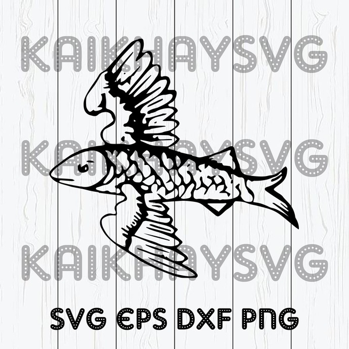 Download Fish Traceable Heraldic Art Fishing Svg By Kaikhaystore On Zibbet