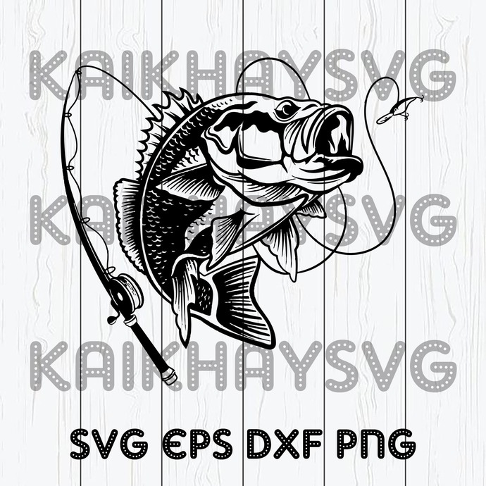 Download Bass Fishing Svg Fishing Svg Fishing Hooks By Kaikhaystore On