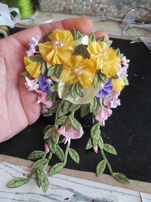 Handmade Ribbon Flower Patch