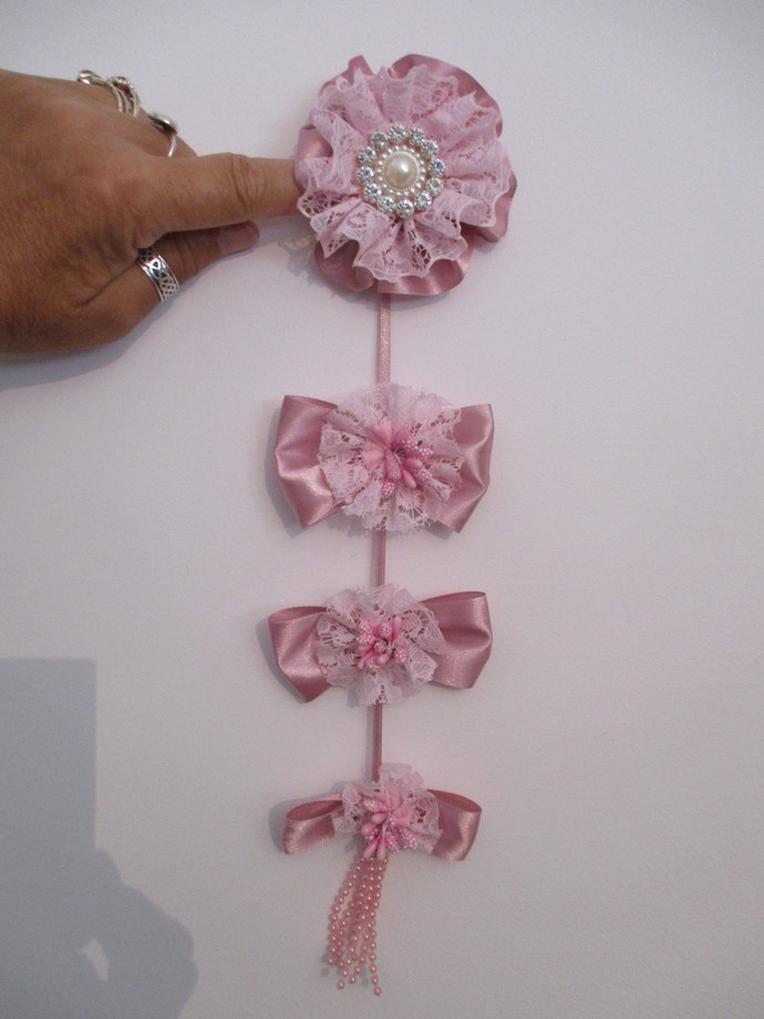 Handmade Ribbon Flower Wall Hanging
