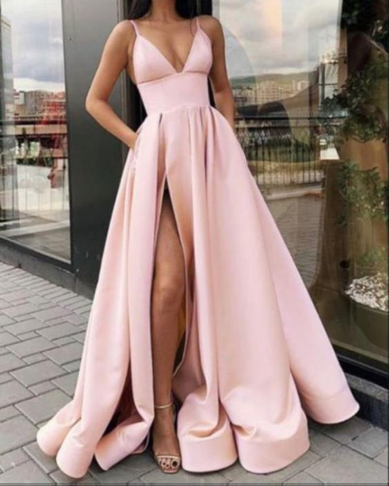 Sexy A Line Women Formal Prom Gowns with Split