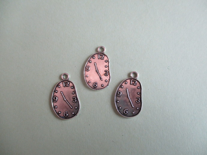 Silvertone Clock Charm - Please Choose