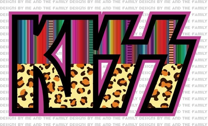 KISS, boho print, cheetah print, South Western print, Rock-N-Roll, classic rock,