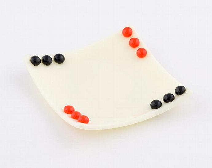 Fused Glass Dish Set in Ivory