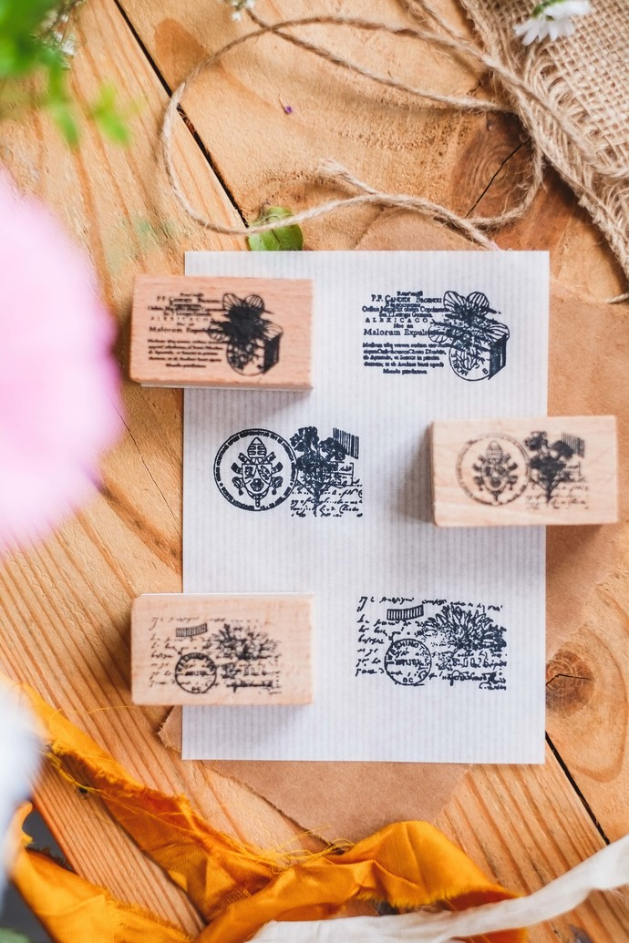 London Gifties design wooden rubber stamps - Collage set