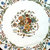 """36""""X 36"""" Flowers Inlay Marble Coffee Table Living Room Furniture Outdoor Table"""