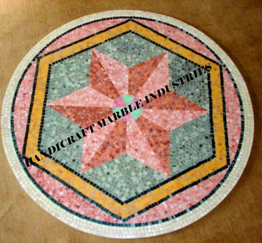 """36"""" x 36"""" inch dia Round Mosaic Table Top Center Table, Mosaic Art, Coffee"""