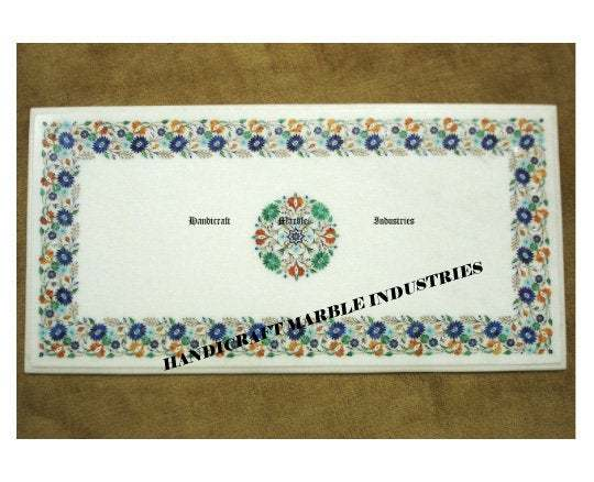 """42"""" x 18"""" Inch Marble Table Top, Dinner Table, Rectangle Table, Breakfast Table,"""