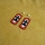 Native American Style Square Stitched Thunderbird Earrings in Red Black and