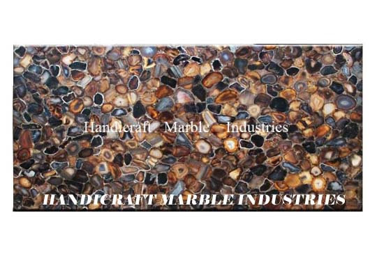 """48""""x24"""" Mix Multi Colour Agate Table Top Rectangular Table, Center Table, Coffee"""